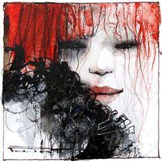 Marcel Nino Pajot Femmes... esquisses (sur papier 12 x 12 cm) Marcel, Redhead Art, Watercolor Paintings, Watercolour, Les Oeuvres, Creepy, Anime, Image, Clowns