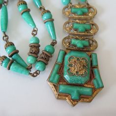 A Vintage Art Deco Czech Glass Neiger Bros. Necklace