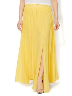 Shop Chiffon Maxi Skirt . Find your perfect size online at the best price at New York & Company.