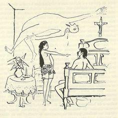 Gabriel García Márquez: Cem Anos de Solidão. Ilustración de Carybé.  Ursula Iguaran e José Arcadio Buendía: