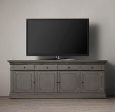 "St. James 84"" Wood Media Console I Restoration Hardware"