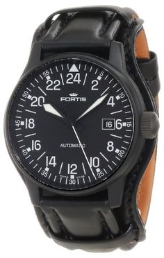 Fortis Men's 596.18.41 L.01 Flieger Automatic 24 Hour Display Watch Fortis. $1995.00. Swiss Automatic movement. Antireflective-sapphire crystal. Water-resistant to 660 feet (200 M). Case diameter: 40 m. Stainless steel case