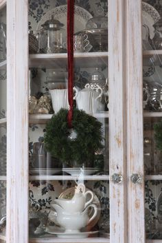 decorating top of china cabinet   China cabinet decoration ...