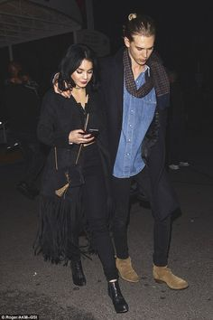 In sync: Vanessa Hudgens and her boyfriend Austin Butler went to The Weeknd concert at The Forum in Inglewood, California on Wednesday