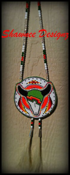 Beaded Buffalo Medallion www.shawneedesignz.com