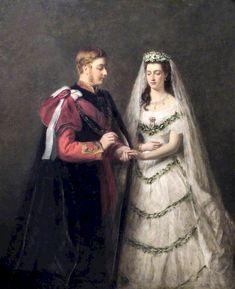 Queen Victoria Prince Albert, Victoria And Albert, Royal Brides, Royal Weddings, Vintage Weddings, Vintage Bridal, Prince And Princess, Princess Of Wales, Portraits Illustrés