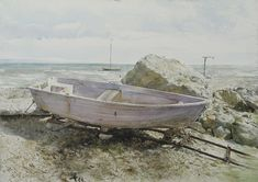 """turecepcja: """"Paintings by Atanas Matsoureff , self-taught artist - born in 1975 in the town of Bansko, Bulgaria. """" Watercolour is a painting technique which offers an infinite scope of possibilities. Jamie Wyeth, Andrew Wyeth Art, Watercolor Landscape, Watercolor Paintings, Watercolours, Nc Wyeth, Nautical Art, Klimt, American Artists"""