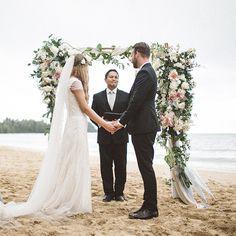 Romantic Beach Wedding in Hawaii