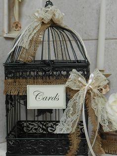 Birdcage Wedding Card Holder / Card Box / Wedding Cardholder / Rustic Wedding decoration / Shabby Wedding Decor