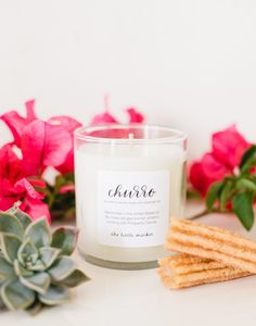 The Little Market's churro candle is back in stock!!