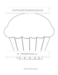 Free Printable Extra Large Cupcake Template