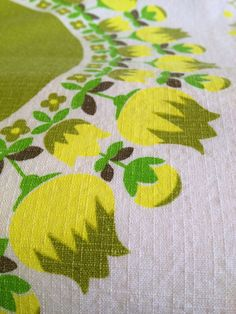 Swedish mid century table cloth. Big with wonderful floral vintage pattern. Made in Sweden