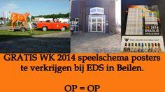 GRATIS WK 2014 speelschema posters te verkrijgen bij EDS in Beilen. OP = OP http://koopplein.nl/middendrenthe/3628368/wk-speel-schema-poster.html
