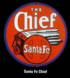 Image Detail for - Santa Fe Chief Railroad Sign