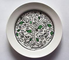 Doodling on a plate
