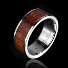 Alamea Hawaii Koa wood ring