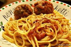 A classic...Spaghetti and Meatballs