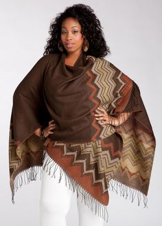 Ashley Stewart: Ruana Wrap Knit
