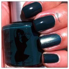 Two coats and no top coat of LETS MAKE A TEAL by The Balm. #nails #nailpolish #swatches #TheBalm .     Instagram: accnpl