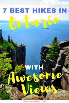 Ontario has a wealth of natural beauty. And the best way to see it is on Ontario trails. Here are seven of the best hikes in Ontario with awesome views. Hiking Spots, Hiking Trails, Places To Travel, Places To See, Canadian Travel, Canadian Rockies, Voyage Canada, Waterfall Trail, Ontario Travel