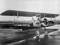 A Sopwith Camel, developed in 1917