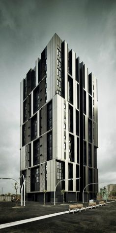 5 Beautiful Patterned Buildings (Social Housing Tower,Spain) | Most Beautiful Pages