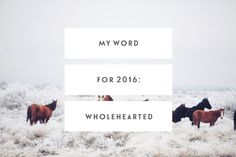 Hello, 2016. It's good to see you.  Something I see many people do around the web this time of year is set an  intention and focus through the year ahead through a single word. While  trying to explore what my word for 2016 could be I played around with  Growth,Explore,Connect,Create, and Joy, but I finally stumbled across  the perfect word while re-reading through Brené Brown's 10 Guideposts for  Wholehearted Living.  Wholehearted.  The word and her guideposts summed up exactly what it…