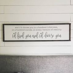 I'd chose you Above the Bed sign Bedroom Wall, Bedroom Decor, Wall Decor, Bedroom Ideas, Wall Art, Bedroom Signs, Diy Signs, Wall Signs, Farmhouse Style
