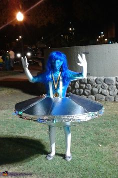 Katherine: Angelina Tella my 11 year old daughter wore and competed in a costume contest and won first place. She was awarded a medal for her homemade UFO costume. We made...