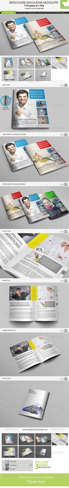 Brochure MockUps — Photoshop PSD #premium #mock-ups • Available here → https://graphicriver.net/item/brochure-mockups/4562355?ref=pxcr