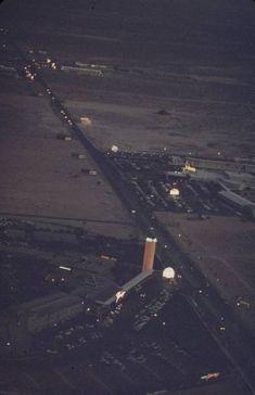Las Vegas - The Strip, June 1955 - The Flamingo (L) and The Dunes (R)