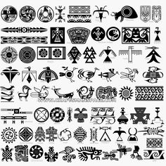 Collection of Native American designs