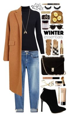 """""""Winter Solstice ❄️"""" by aimaespiritu on Polyvore featuring Rumour London, Minor Obsessions, Frame, Valentino, Burberry, The 2nd Skin Co., Bobbi Brown Cosmetics, Nikon and Parker"""