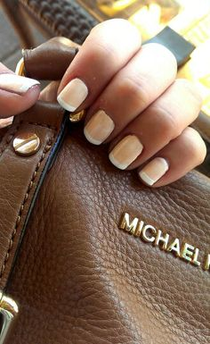 Classic nude french manicure..love it!!!!