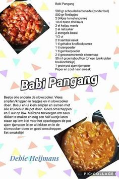 Babi pangang Green Eggs, Indonesian Food, Pulled Pork, Slow Cooker Recipes, Baked Potato, Muffin, Food And Drink, Fruit, Vegetables