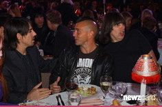 Anthony Kiedis of Red Hot Chili Peppers, Eddie Vedder of Pearl Jam and Johnny Ramone of The Ramones (Photo by KMazur/WireImage)