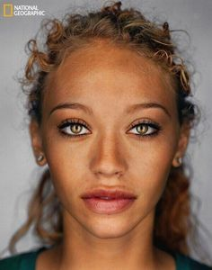 According to National Geographic, that is what the average human will look like in 2050. Gorgeous! :)
