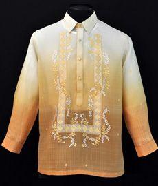 Monochromatic Matte Gold Barong Tagalog - Barongs R us Wedding Prep, Wedding Wear, Wedding Attire, Barong Tagalog Wedding, Filipiniana Dress, Vintage Wedding Theme, Line Shopping, Groom Attire, Matte Gold