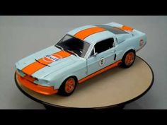 FORD MUSTANG SHELBY GT 500 1967 GULF OIL No 8 Greenlight 1/18