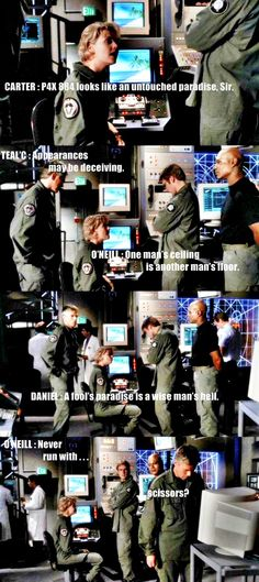 The wit and wisdom of SG-1 . . .