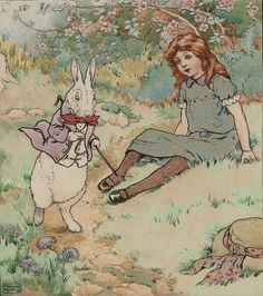 """Alice in wonderland"" illustration de Frank Adams (1871-1944). Photo de Sofi"