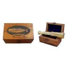 Engraved Pirate Rackham Vintage Scrimshaw Horn Box Antique Reproduction