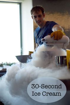 A fun and fast way to make ice cream, using liquid nitrogen. Plus, it tastes amazing!