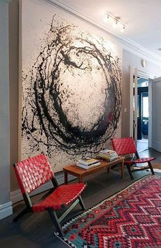 These wall art ideas to inspire you: wall art ideas for bedroom, diy large wall decor for living room, blank wall design, homemade wall decoration. Painting Inspiration, Diy Art, Amazing Art, Amazing Ideas, Awesome, Cool Art, Art Projects, Abstract Art, Black Abstract
