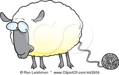 I absolutely have to get this Ron Leishman illustration of a sheep with a ball of yarn as a tattoo!