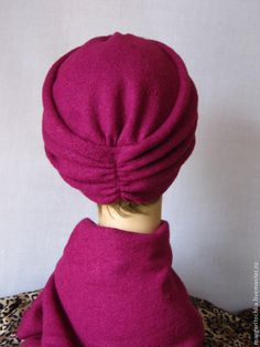 "Купить ""Аида"" чалма теплая тюрбан - осенняя шапочка, осенняя мода, модный аксессуар"