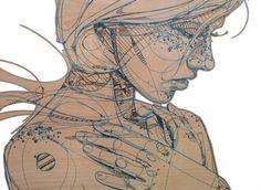 #Jason #Thielke's #architectural #blueprint #portraits