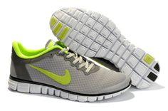Nike Free 3.0 V2 Small Net Sko Damer Light Gray Grøn 85363
