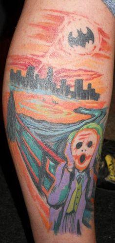Batman meets the Scream tattoo