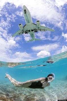Eyes to the sky. Head to Maho Beach on the Dutch side of St. Maarten to watch planes take off and land from the Princess Juliana International Airport.
